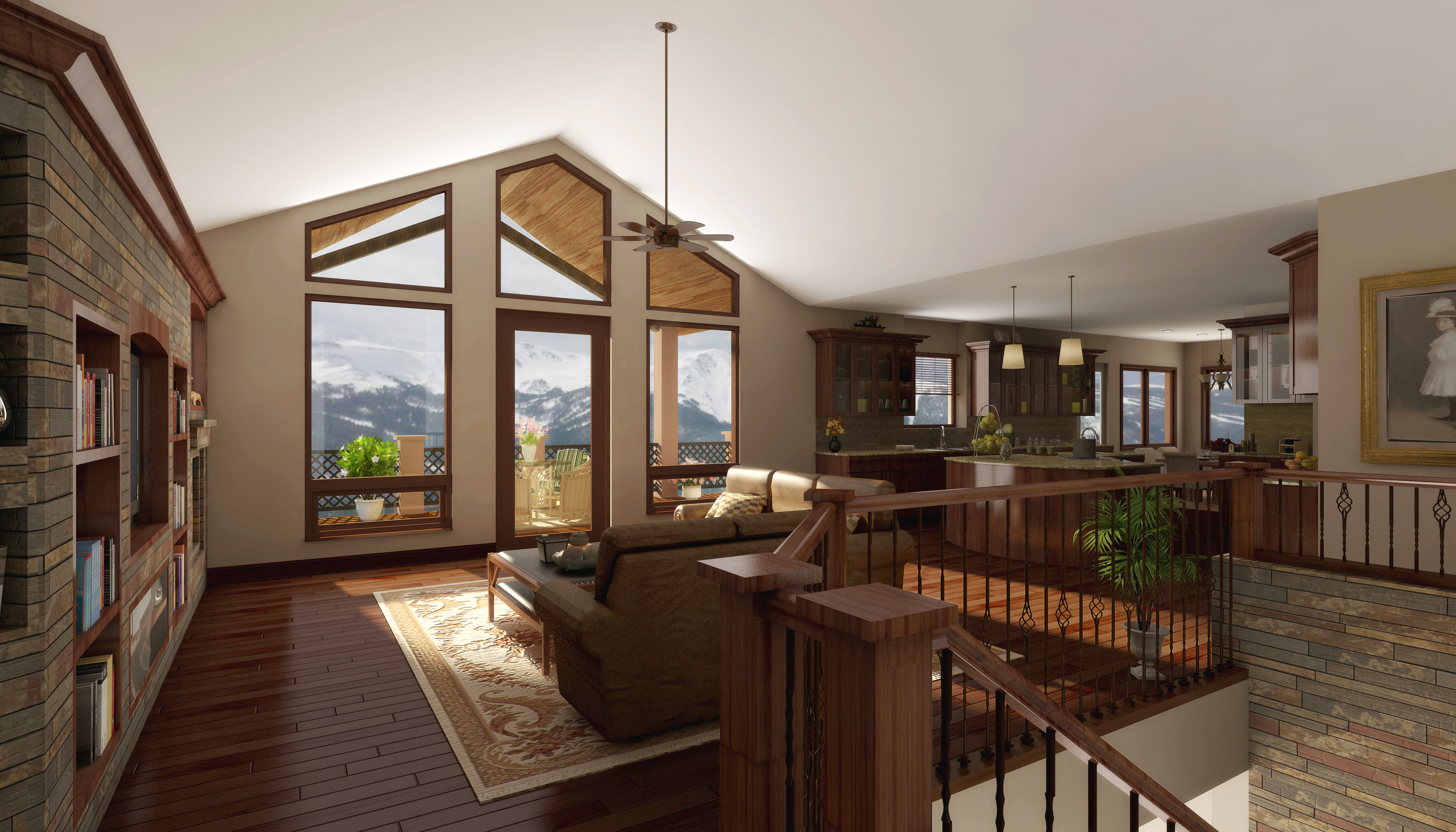 Custom homes building lots castle rock denver area for Open floor plans with vaulted ceilings